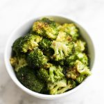 bowl of easy roasted broccoli