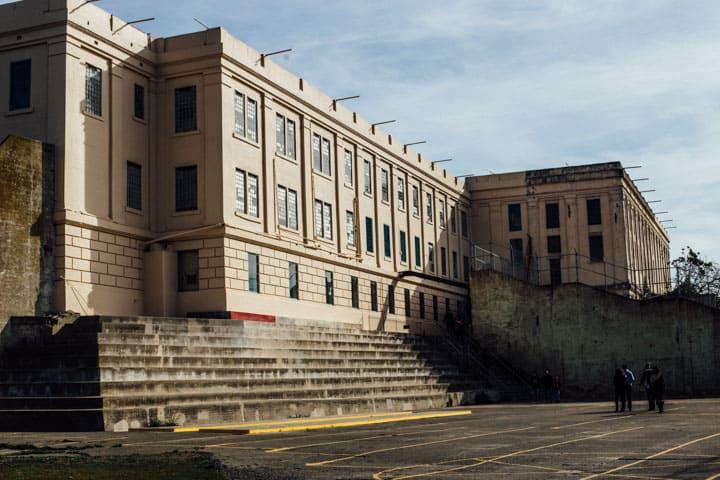 prison yard, alcatraz island