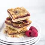 stack of raspberry crisp bars