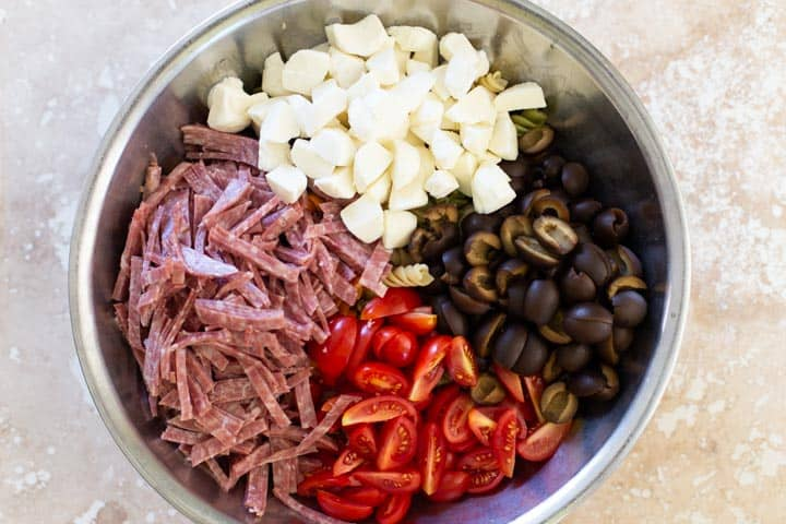 easy italian pesto pasta salad