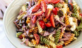 Easy italian pesto pasta salad by the travel palate