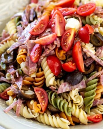 Easy italian pesto pasta salad by the travel palate