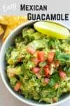easy homemade mexican guacamole