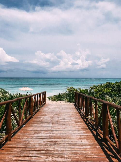 path leading to the beach in riviera maya mexico unico 2087 by the travel palate