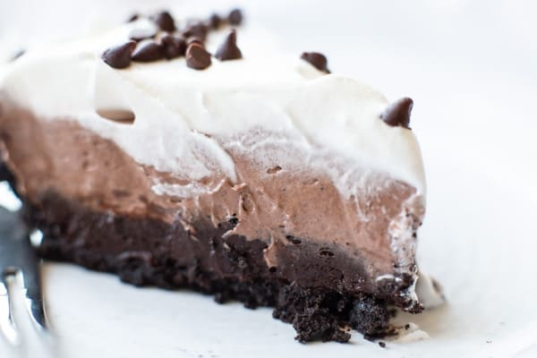 This No Bake Chocolate Pie is quick, easy, and loved by chocolate lovers young and old. Perfect as a make ahead dessert during the hectic holiday season, or whenever you're craving a cool, creamy chocolate dessert.