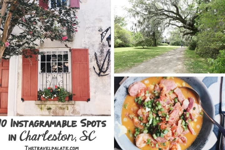 Instagramable photo ops from charleston, south carolina