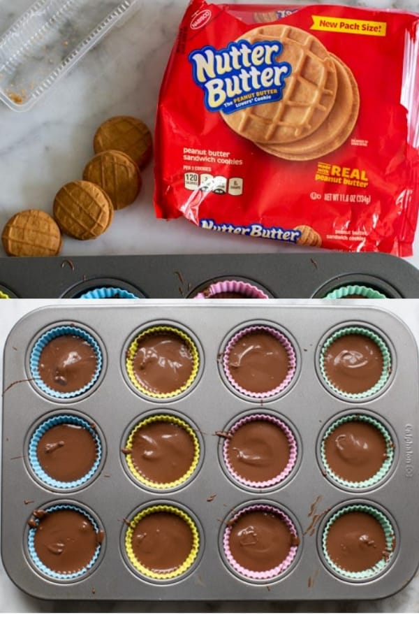 making chocolate covered nutter butters