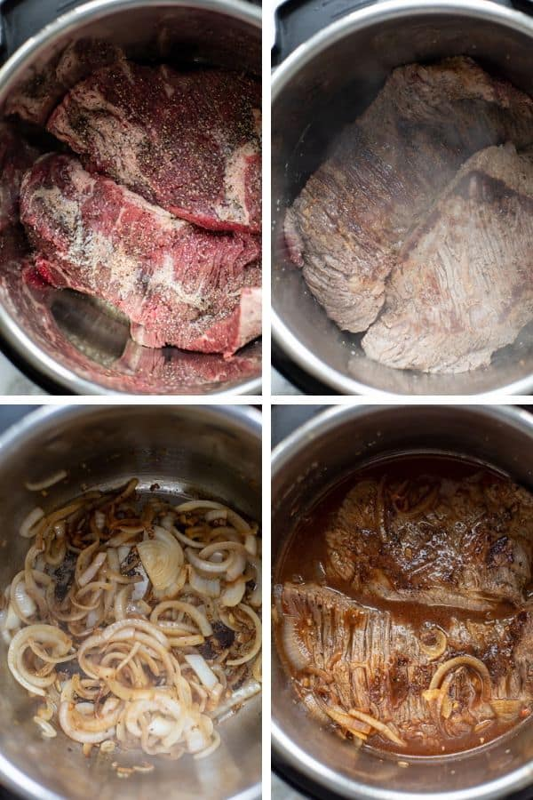 cooking stages of brisket in instant pot