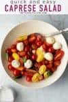 cherry tomato caprese salad pinterest image