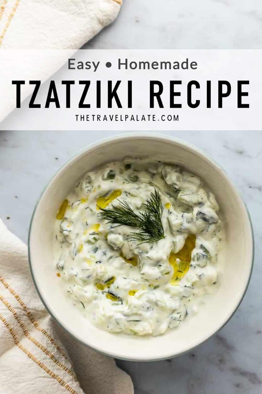 tzatziki in a bowl