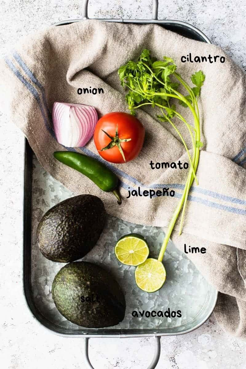 overhead shot of ingredients on a kitchen towel