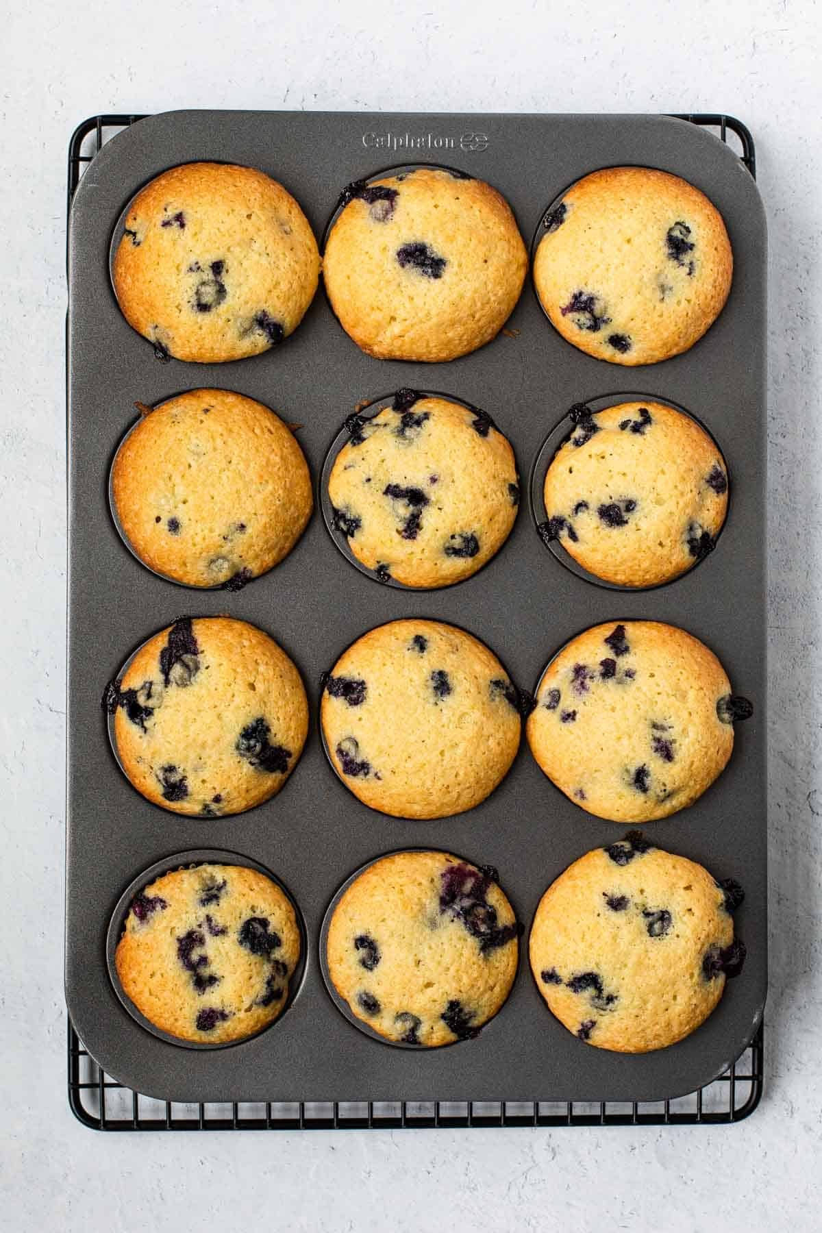 baked muffins in a pan