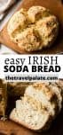 irish soda bread collage with text overlay for pinterest