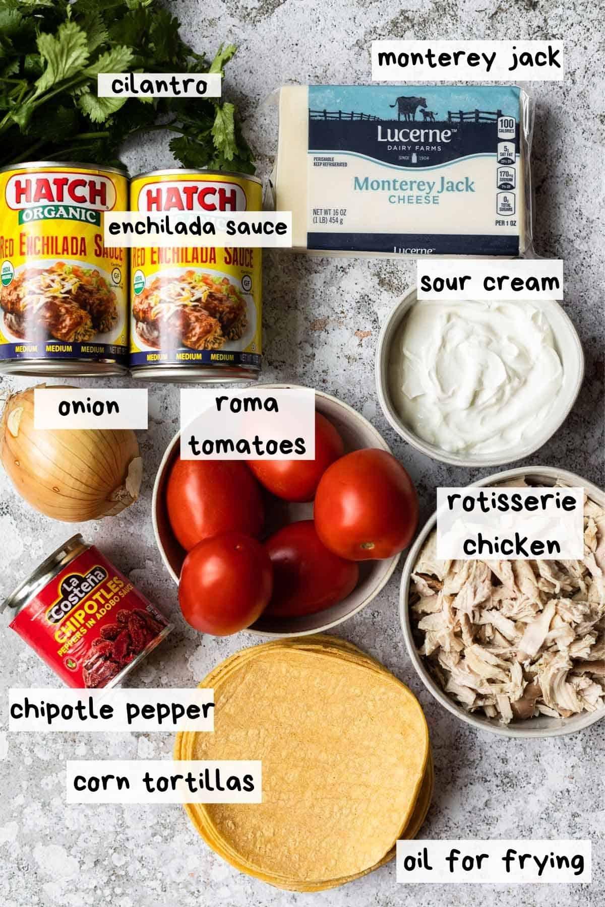 overhead shot of recipe ingredients