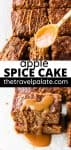 apple spice cake with text overlay