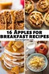 collage of apple recipes with text overlay