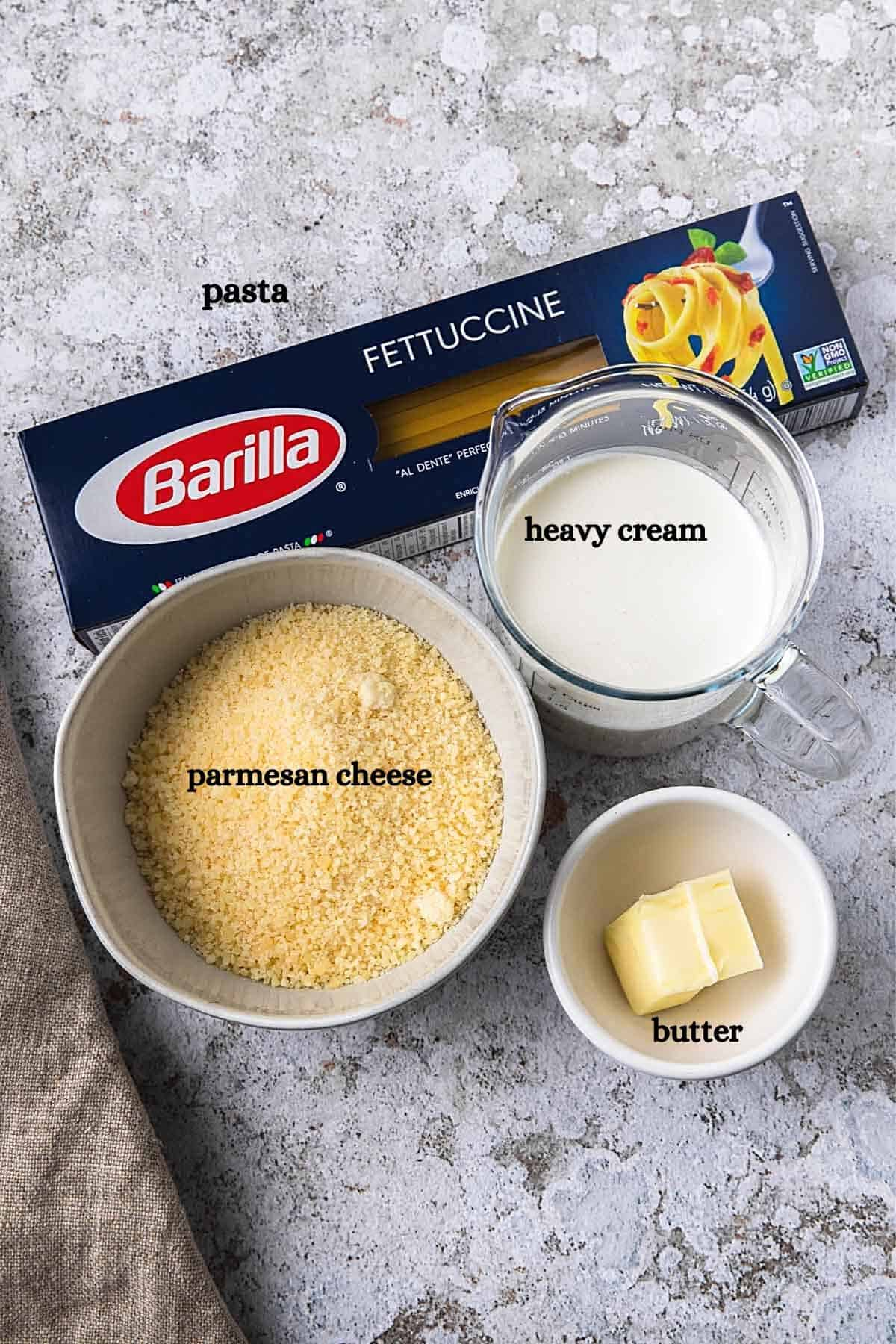 ingredients with lables