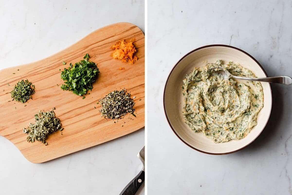 making orange herb butter rub