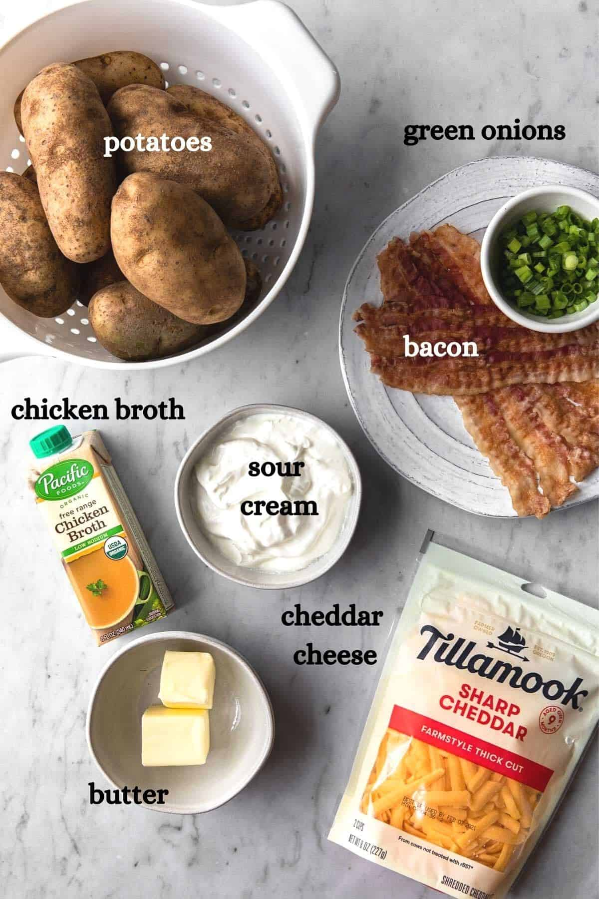 ingredients with labels