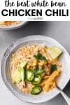 The best white bean chicken chili.