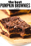 The best pumpkin brownies. The Travel Palate.