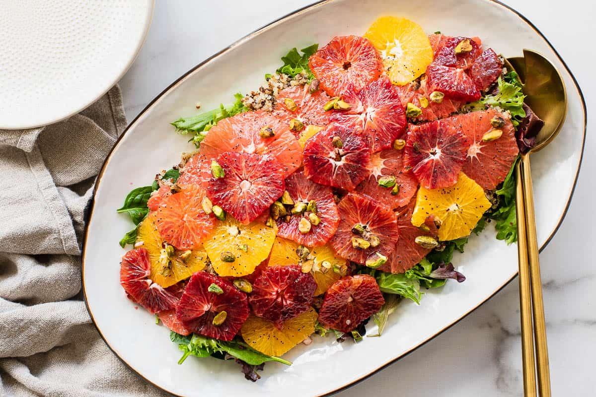 citrus salad on a large platter