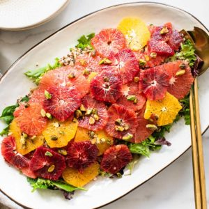 citrus salad on a large oval platter