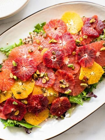 citrus salad on a large oval platter