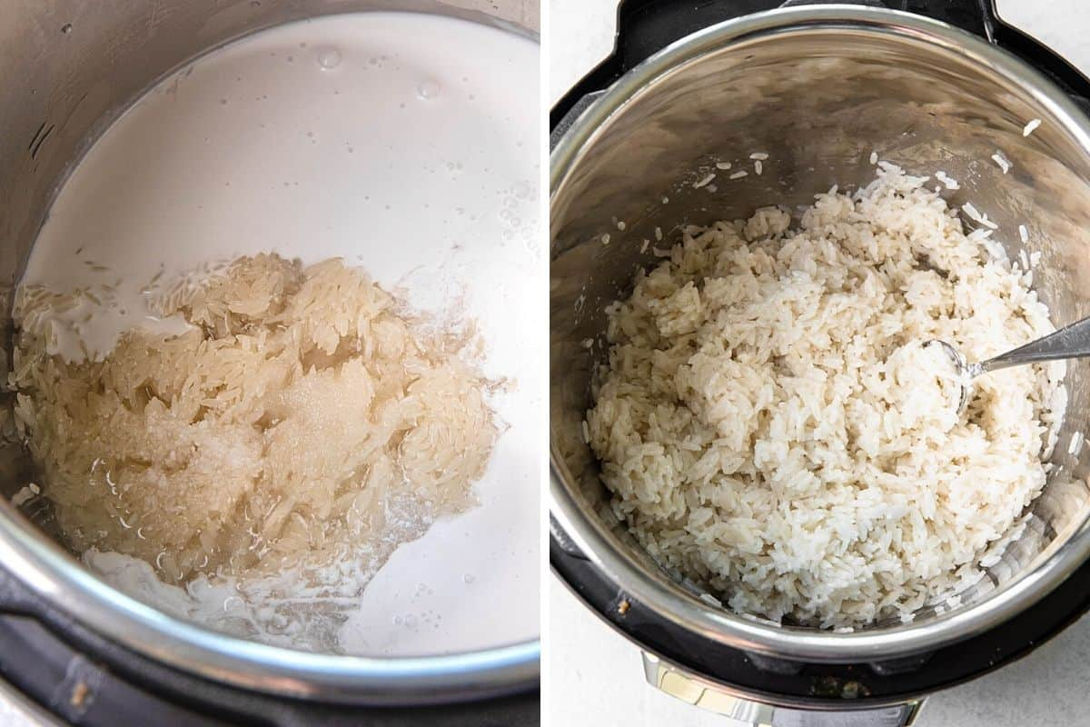 cooking rice in an instant pot