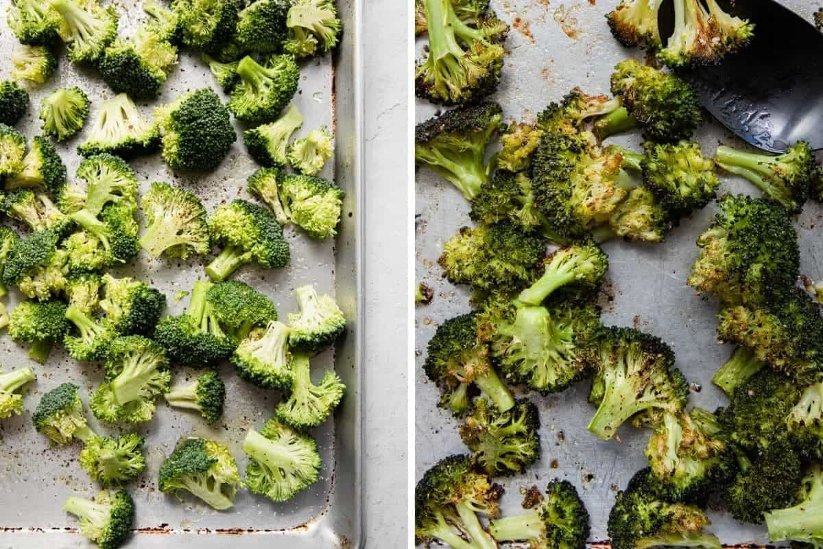 broccoli before and after cookin