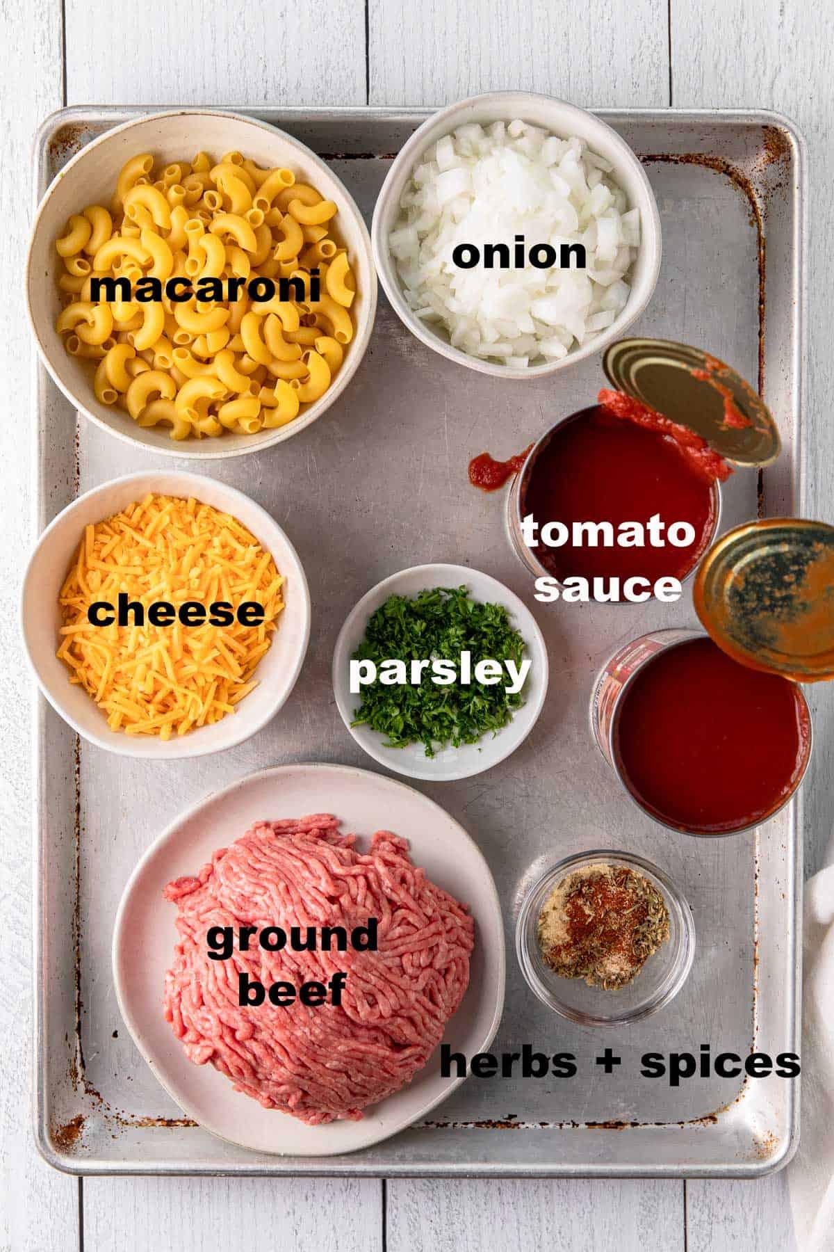 ingredients to make beefaroni