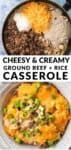 cheesy and creamy ground beef and rice casserole