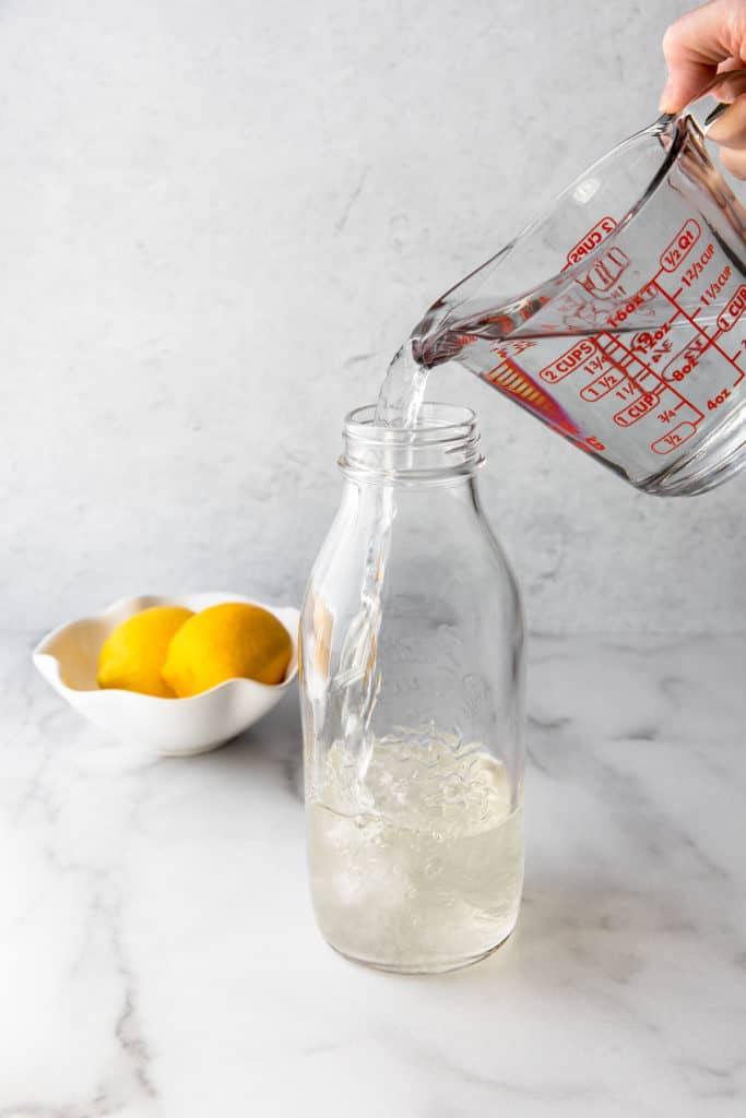 simple sugar in a glass jar