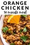 orange chicken 30 minute meal